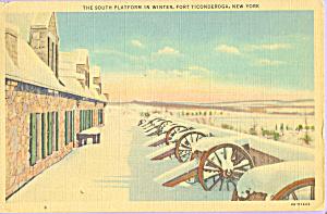 South Platform in Winter Fort Ticonderoga New York p22952 (Image1)