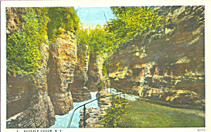 Ausable Chasm New York Postcard P22965