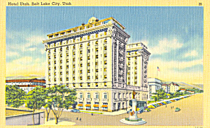 Hotel Utah Salt Lake City UT Postcard p22990 (Image1)