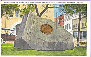 Grave Indian Chief Tomo Chi Chi Savannah GA p23006 (Image1)