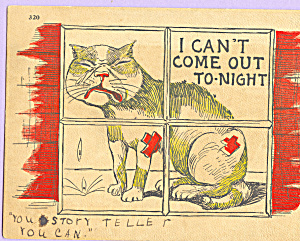 I Can t Come Out To Night Postcard p23024 (Image1)