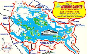 Map of Lake Winnipesaukee New Hampshire (Image1)