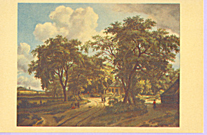 Wooded Landscape with Figures Meindert Hobbema p23143 (Image1)
