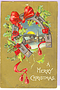 A Merry Christmas Postcard p23145 (Image1)