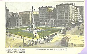 LaFayette Square Buffalo New York Zeno Chewing Gum p23162 (Image1)