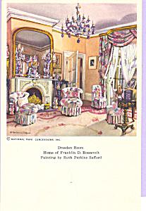 Dresden Room Home of Franklin D Roosevelt Postcard p23192 (Image1)