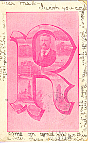 Theodore Roosevelt Private Mailing Card P23254