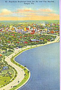 Bayshore Boulevard from the Air Tampa Florida p23257 (Image1)