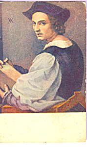 Audrea del Sarto His Own Portrait Postcard p23259 (Image1)