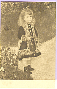 A Girl With a Watering Can Renoir Postcard p23270 (Image1)