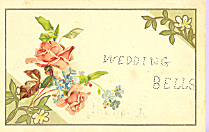 Wedding Bells with Roses Postcard p23283 (Image1)