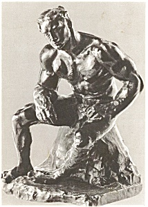 Rodin Sculpture L'Athlete  Postcard (Image1)