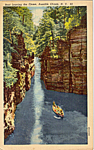 Boat Leaving The Flume Ausable Chasm Ny P23437