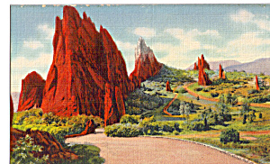 Garden Of The Gods Colorado Postcard p23592 (Image1)