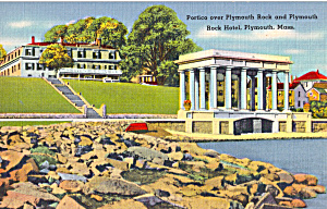 Portico over Plymouth Rock and Plymouth Rock Hotel (Image1)