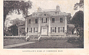 Longfellow S Home Cambridge Massachusetts P23672