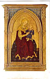 Madonna and Child Gentile Da Fabriano Postcard p23682 (Image1)