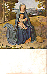 The Rest on the Flight Into Egypt Gerard David Postcard p23683 (Image1)
