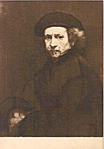Self Portrait Rembrandt Postcard p23688 (Image1)