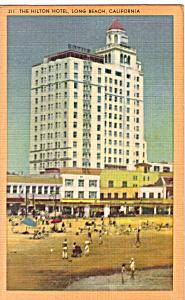 Hilton Hotel Long Beach California Postcard p23702 (Image1)