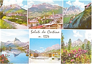 Cortina Italy Multi View Postcard (Image1)
