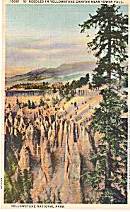 Needles Yellowstone Canyon,Yellowstone National Park (Image1)