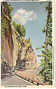 Overhanging Cliff,Yellowstone National Park (Image1)