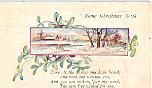 Some Christmas Wish Postcard p23868 (Image1)