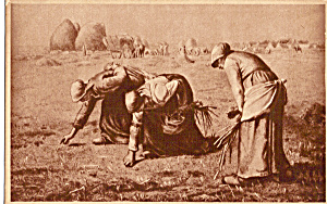 Three Women Gleaning Postcard p23879 (Image1)