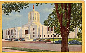 State Capitol Salem Oregon Cars 30s (Image1)
