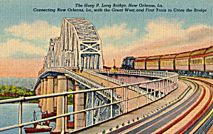 Train on Huey P.Long Bridge New Orleans Louisiana p23935 (Image1)