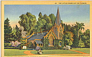 Little Church Of The Flowers Forest Lawn California P23947
