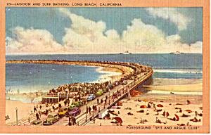 Surf Bathing in Lagoon Long Beach California p23953 (Image1)