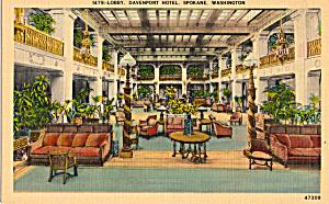 Lobby Davenport Hotel Spokane  Washington p23983 (Image1)