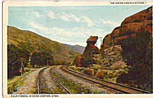 Union Pacific RR Tracks Echo Canyon Utah p23991 (Image1)