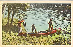 Rowboat Landing Catch of Fish on Shore p24038 (Image1)