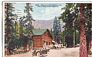 Glencoe Inn Pike Peak S Highway Colorado Vintage Cars P24114