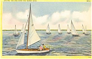 Sailing Over The Sunny Seas  Postcard p2411 (Image1)