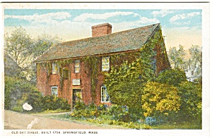 Springfield MA Old Day House Postcard p2415 (Image1)