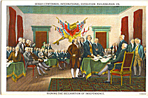 Signing of the Declaration of Independence Postcard p24274 (Image1)
