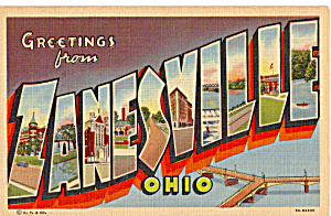 Big Letter Postcard Of Zanesville, Ohio P24307