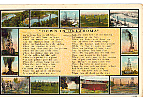Poem Down in Oklahoma Postcard p24327 (Image1)