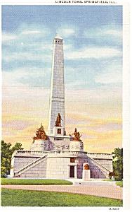Springfield IL Lincoln's Tomb Postcard (Image1)