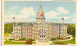 State Capitol  Lansing,Michigan p24406 (Image1)