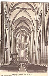 Cathedrale de St Pierre Interior Postcard p24462 (Image1)