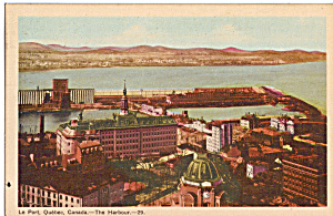 Le Port Quebec Canada The Harbour Postcard p24484 (Image1)