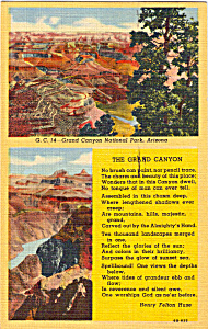 The Grand Canyon Poem by Henry Felton Huse (Image1)