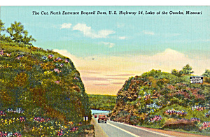 North Entrance Bagnell Dam Lake Of The Ozarks Car 40s P24530