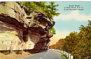 Us 71 Bluffs On Prize Drive Ozarks Postcard P24533