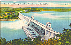 Bagnell Dam Lake of the Ozarks MO Postcard p24537 (Image1)
